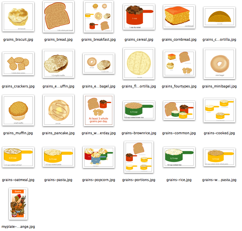 Clip Art Grains Food Group