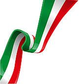 Italian Background Clip Art   Italian Background With Flag   Royalty