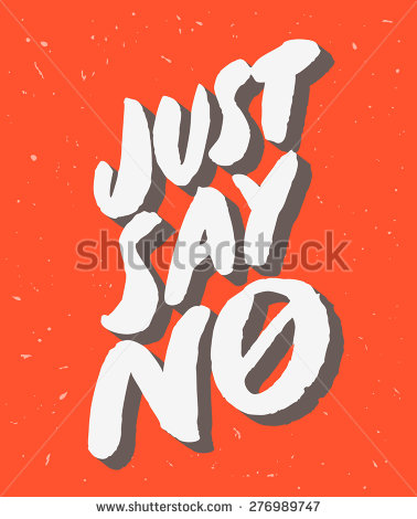 Just Say No    Stock Vector