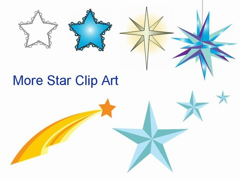 Of Star Clip Art For You To Use For All Of Your Christmas Activities