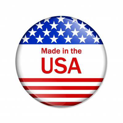 Pin Made In Usa Logo Simple Clipart Text Above The American Flag On