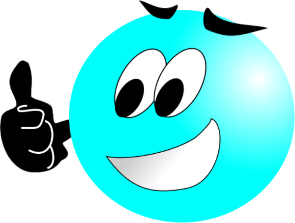 Smiley Face Making Thumbs Up Vector Clip Art Picture