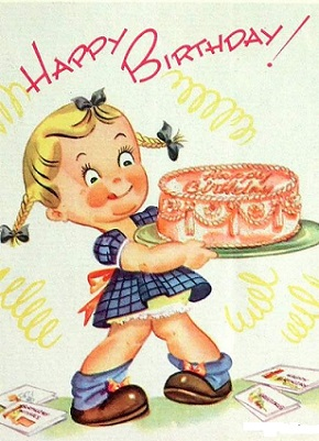 vintage happy birthday clipart  clipart kid, Birthday card