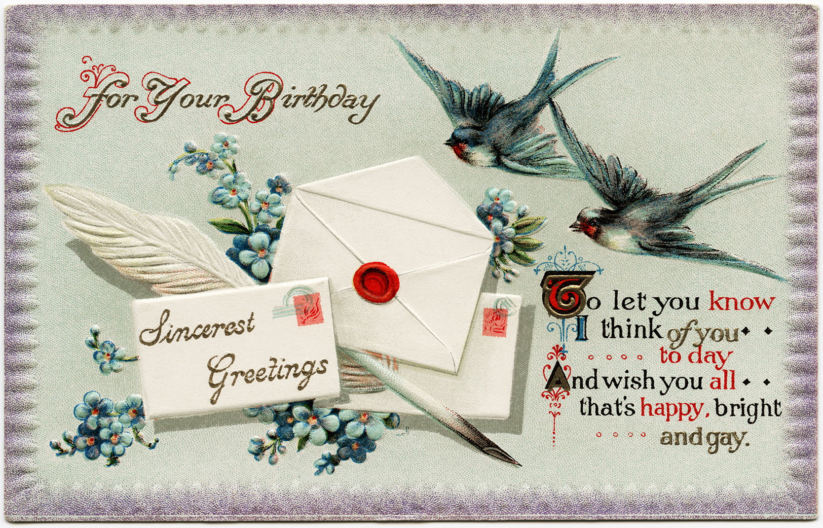Image result for VINTAGE flower HAPPY BIRTHDAY card