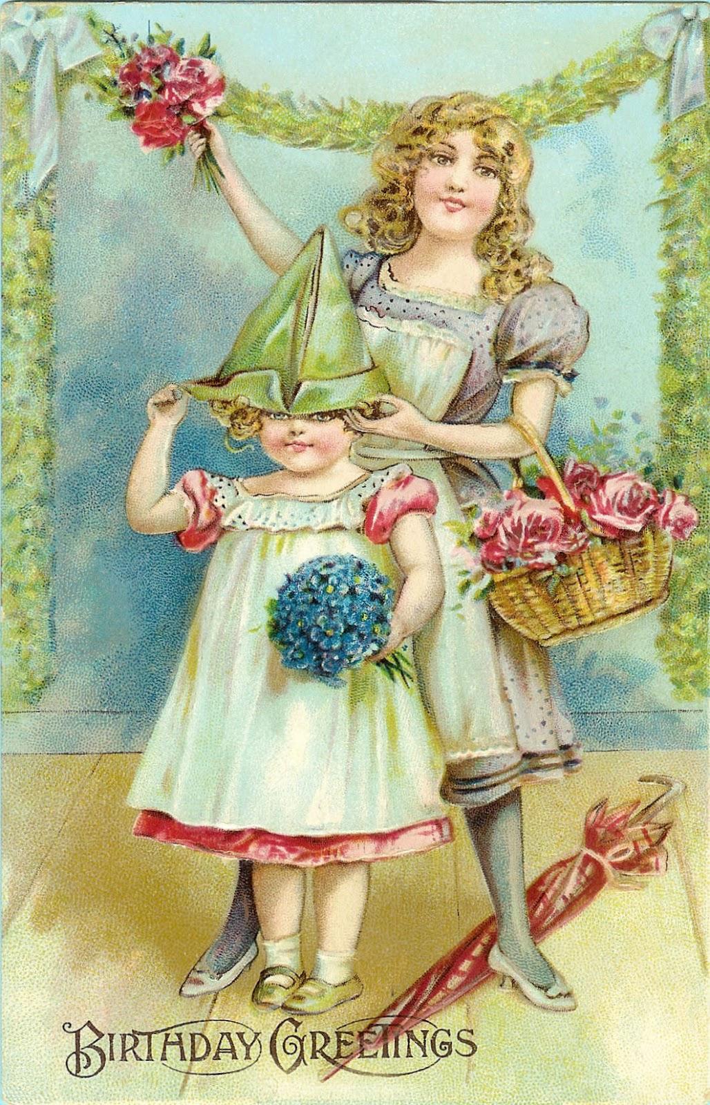 free victorian birthday clip art - photo #26