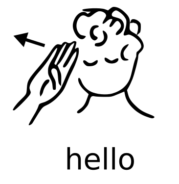 Asl Hello   Http   Www Wpclipart Com Sign Language Asl Words Asl Hello