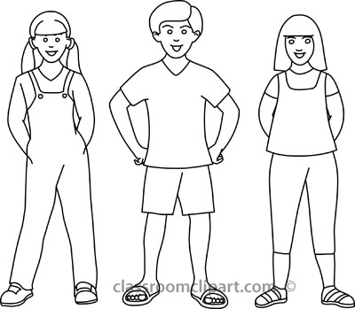Black And White Boy And Girl Clipart - Clipart Kid
