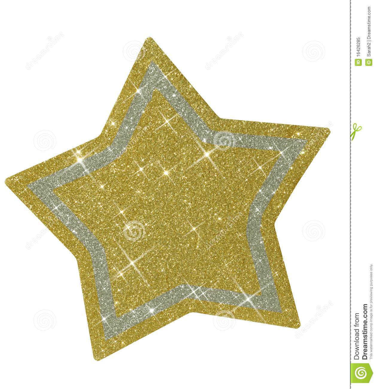 Christmas Glittery Star   Isolated Royalty Free Stock Photo   Image