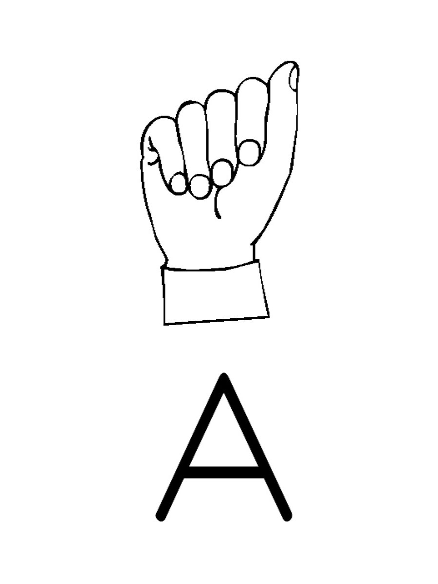 Clip Art   American Sign Language Posters And Worksheets Page 1