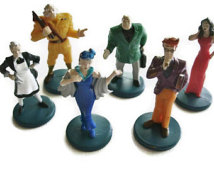 Clue Game Characters Set Of 6 Playi Ng Pieces