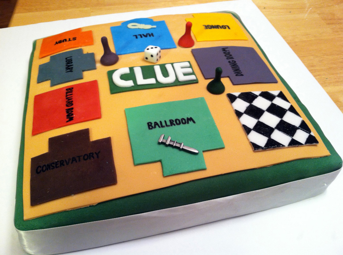 Clue Game Piece Cake With Clue Game Pieces