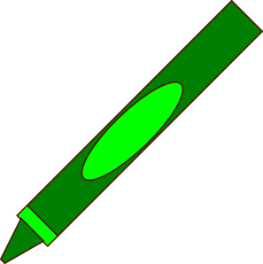 Green Crayon Clipart - Clipart Kid
