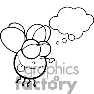 Fly Clipart Black And White 1381730 Cartoon Fly Black White Jpg