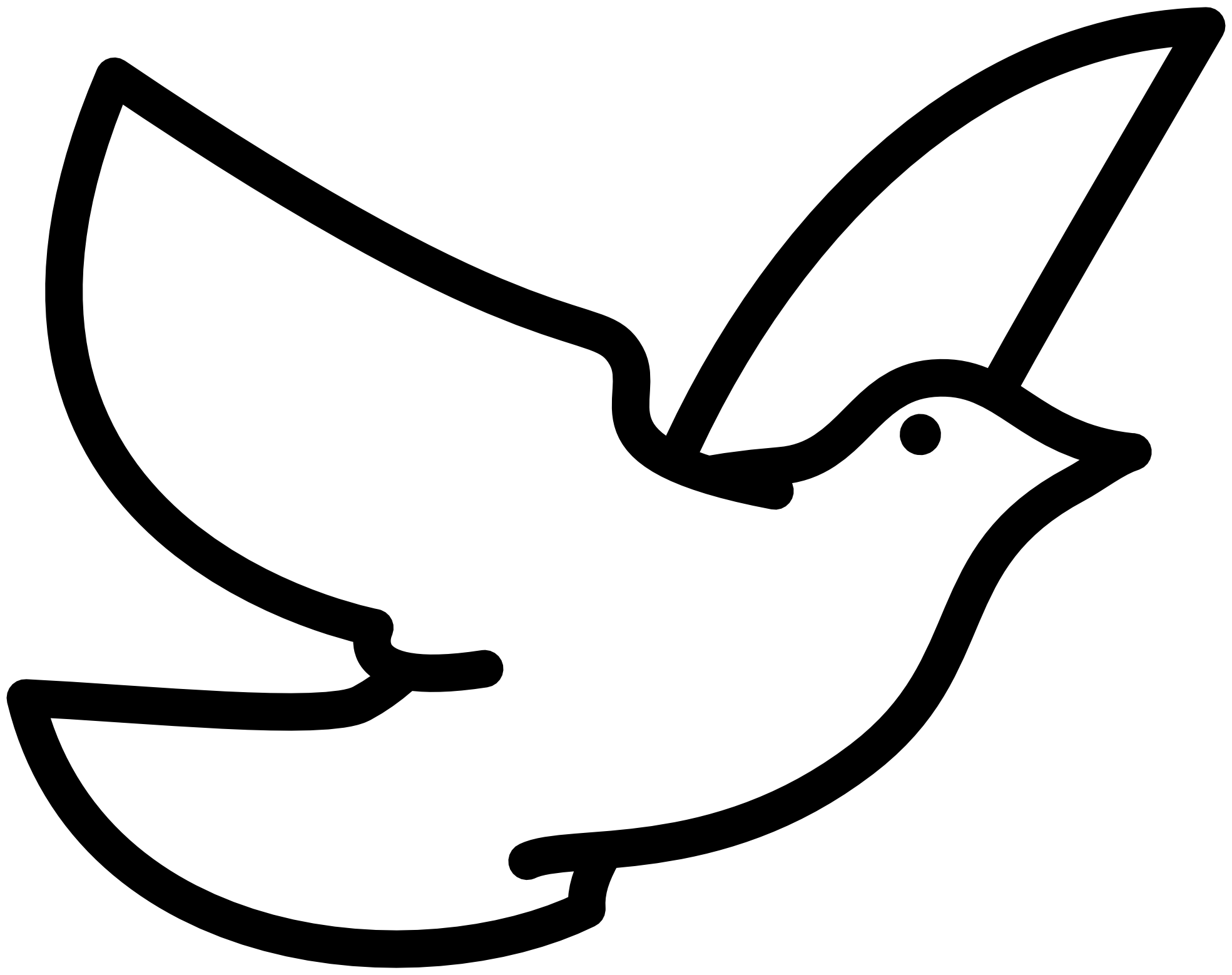 Fly Clipart Black And White Black And White Bird Flying Drawingdove