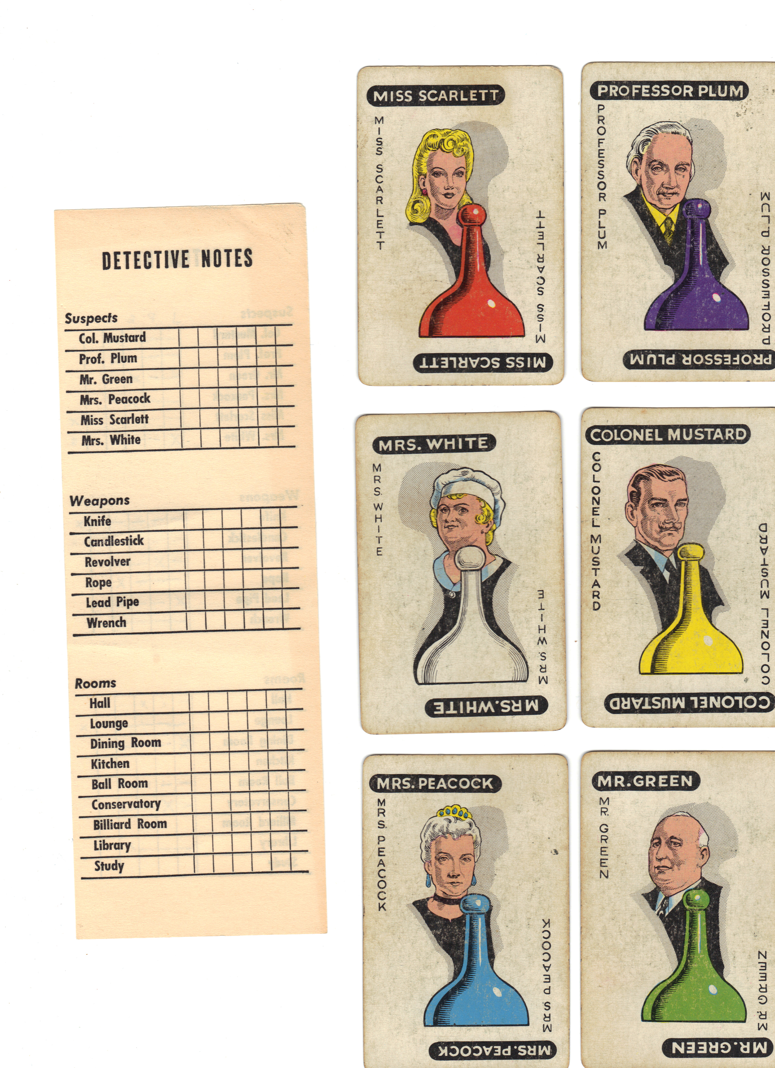 Game Cards  Clue Suspect Cards  Clue Cards Printable  Clue Board