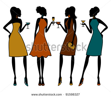 Female Group Of Friends Clipart - Clipart Kid