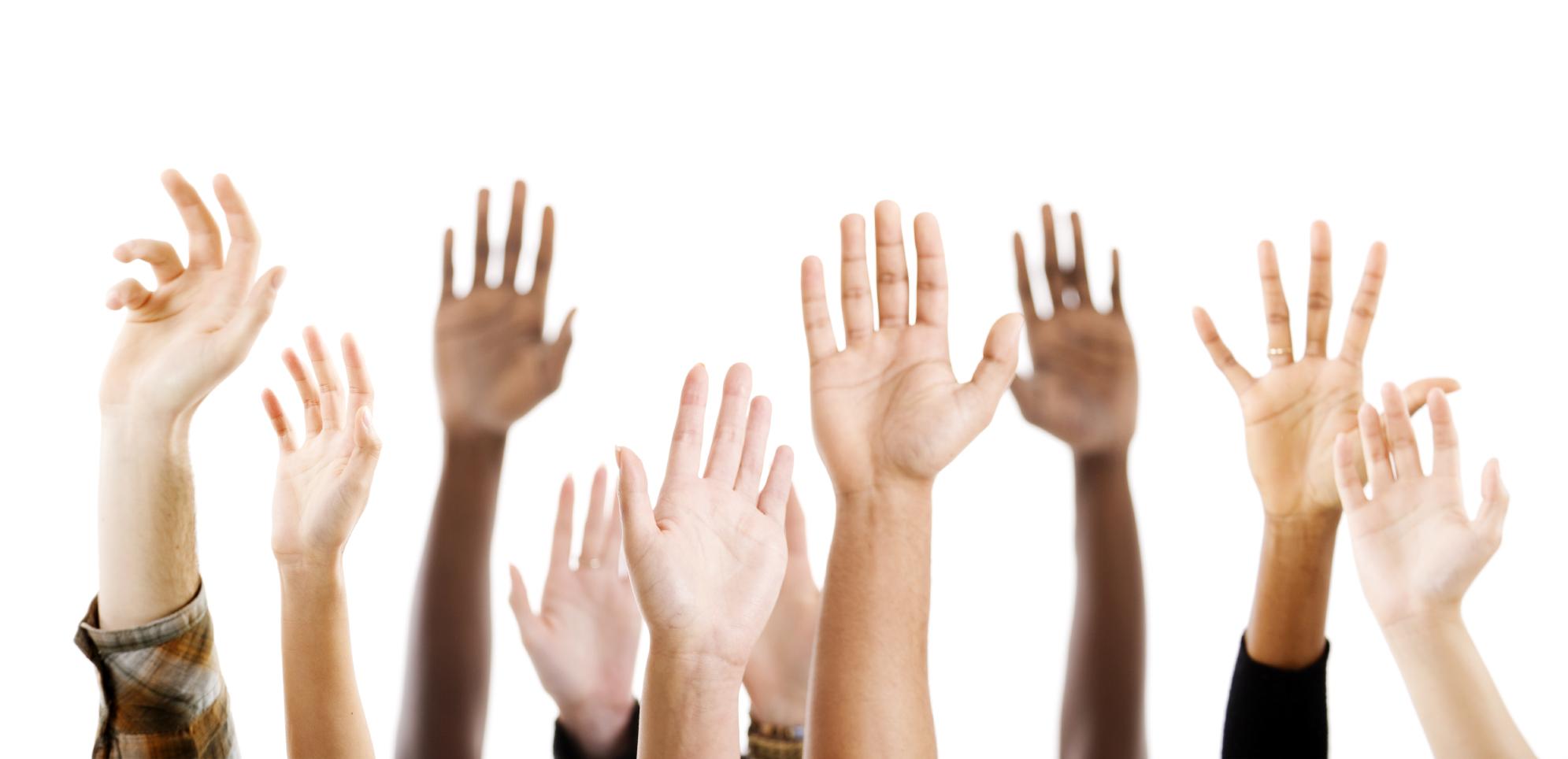 Worship Hand Clipart