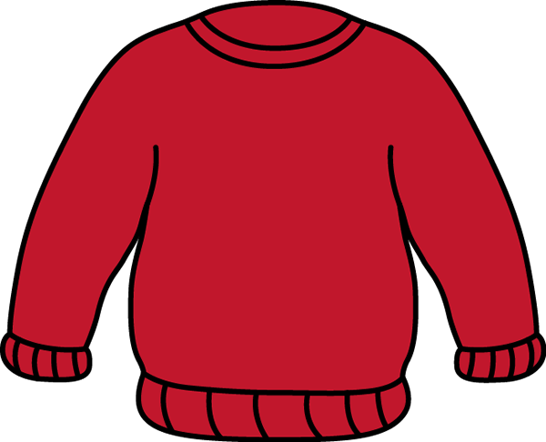 Red Sweater Clip Art   Plain Red Sweater