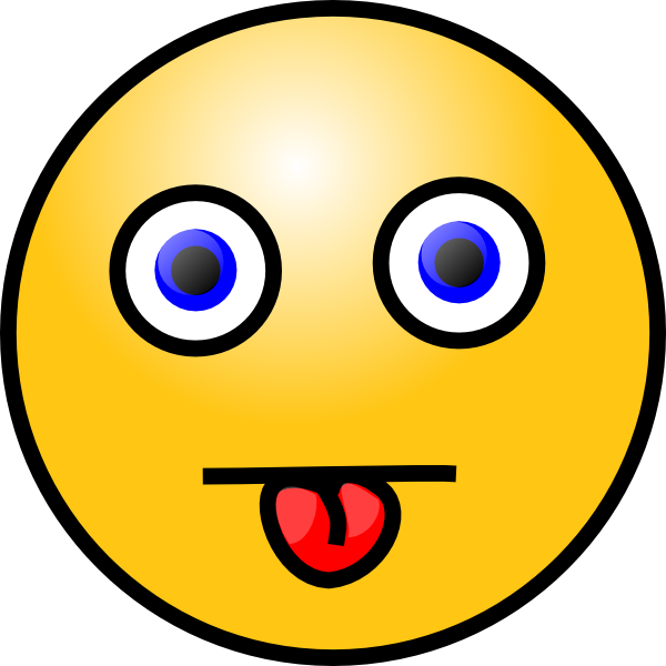 Smiley With Tongue Out Clip Art At Clker Com   Vector Clip Art Online