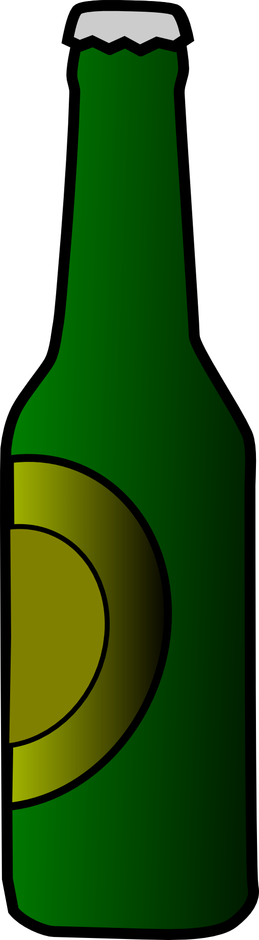 Beer Bottle Black And White Clipart Clipart Kid