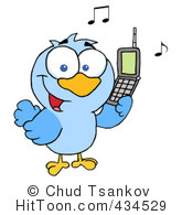 Calling Bird Clipart   Vectors  1