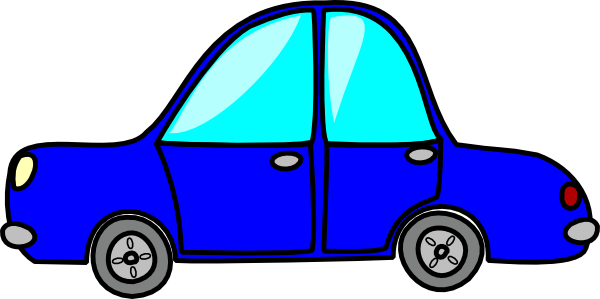 Cartoon Blue Car Clip Art At Clker Com   Vector Clip Art Online
