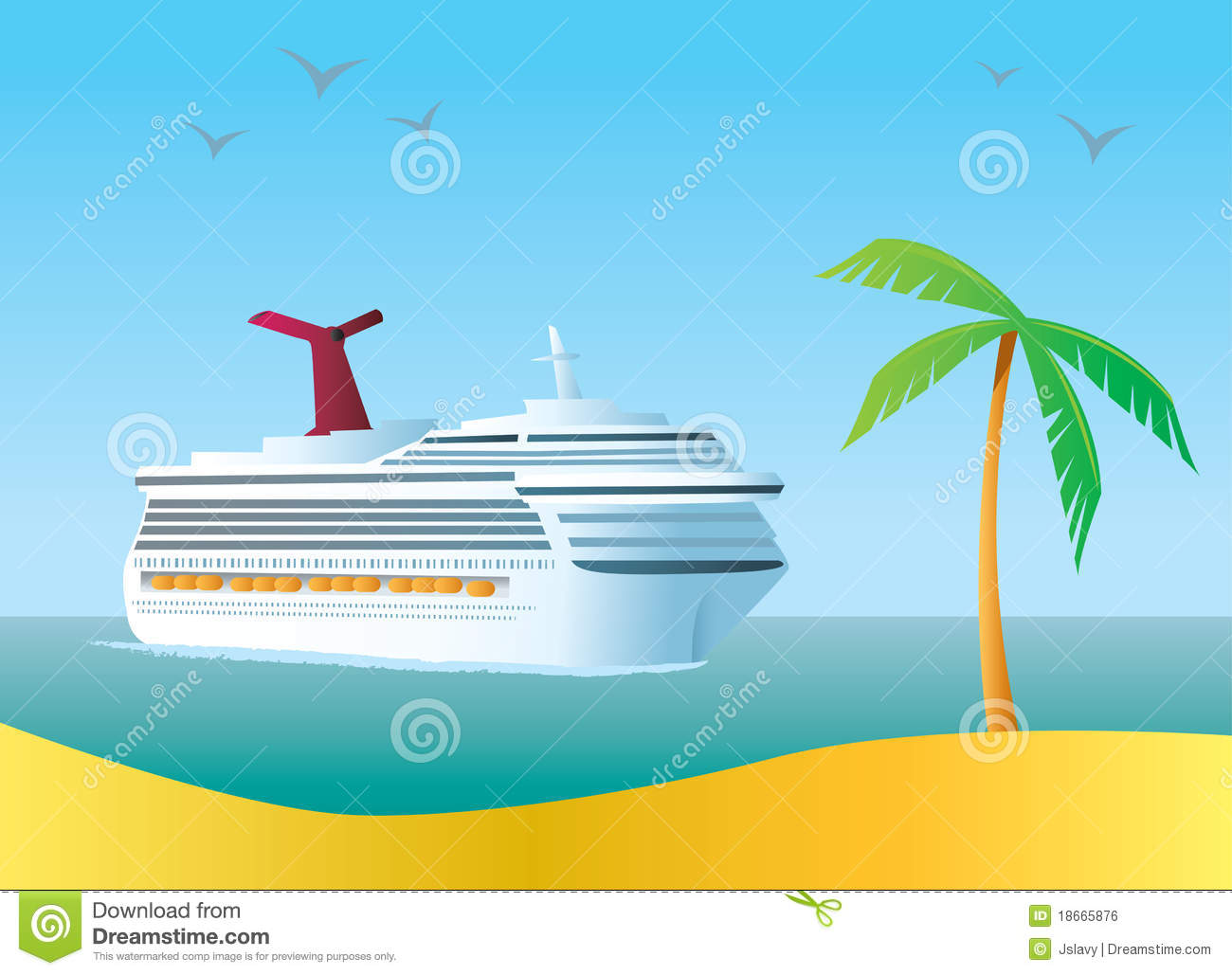 Cartoon Cruise Ships Cruise Ship