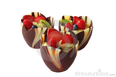 Chocolate Fruit Cup Royalty Free Stock Photography   Image  13033927