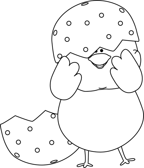 black and white easter clipart clipart suggest