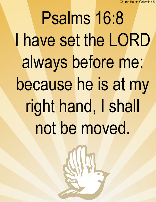 Church House Collection Blog  Psalms 16 8 Clipart Picture