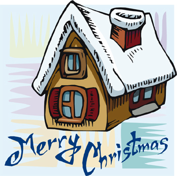 Clipart Grandmas House Grandma S House At Christmas