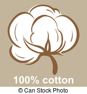 Cotton Icon   100 Cotton Icon On A Beige Background