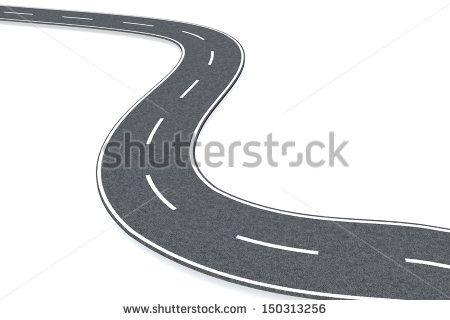Curved Street Clipart Curved Road   Stock Photo