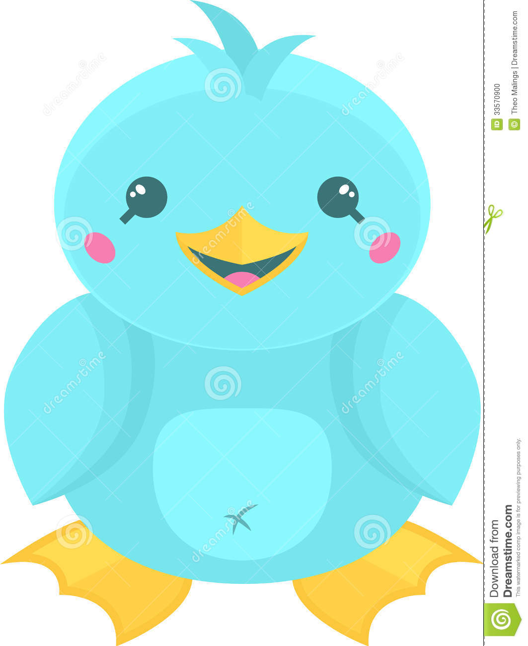 Cute Kawaii Duck Stock Photo   Image  33570900