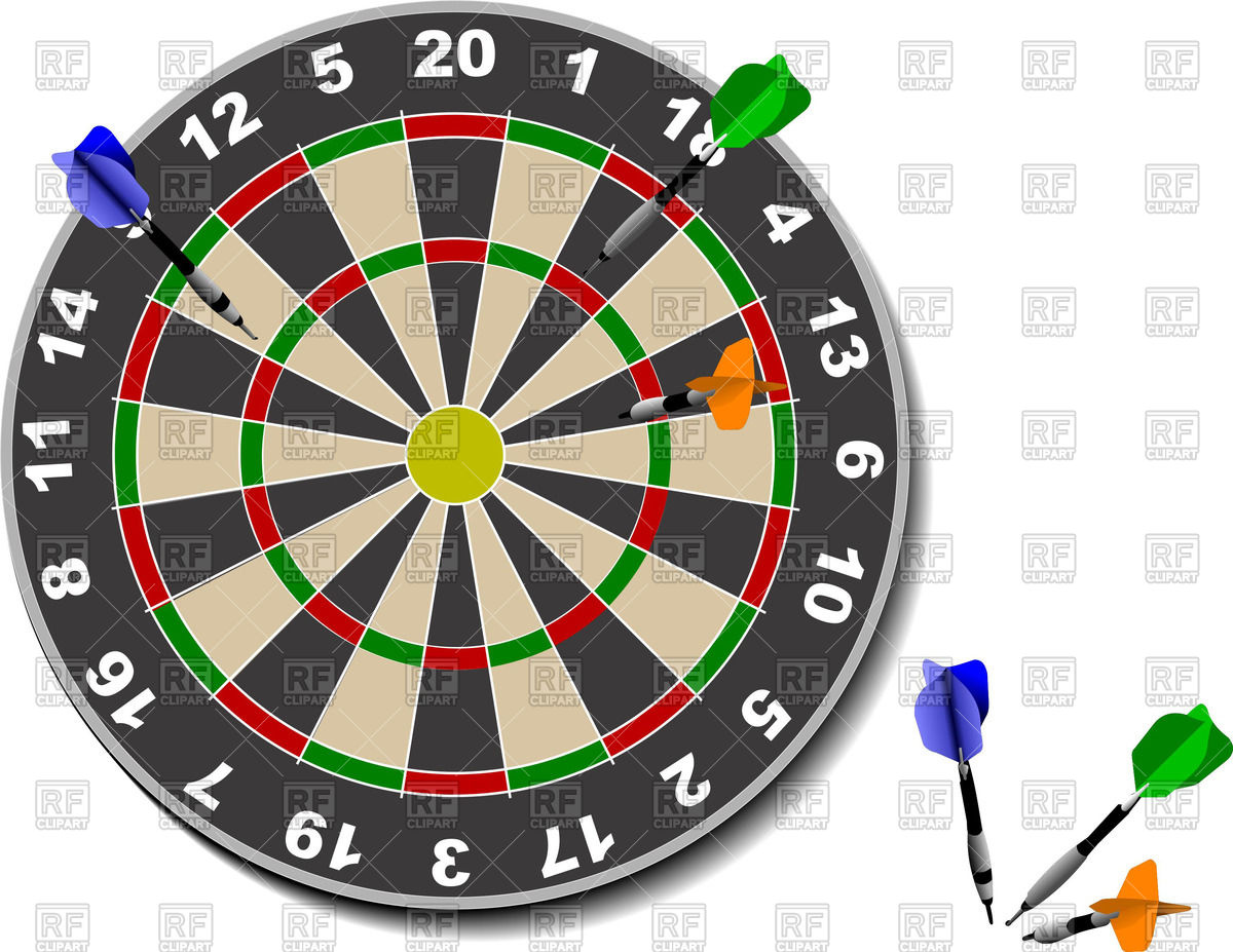 Dart Board And Darts 53510 Download Royalty Free Vector Clipart  Eps