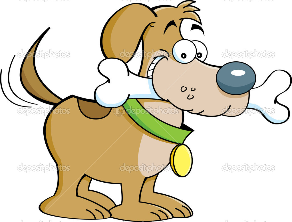 Dog And A Bone   Stock Vector   Kenbenner  12253020