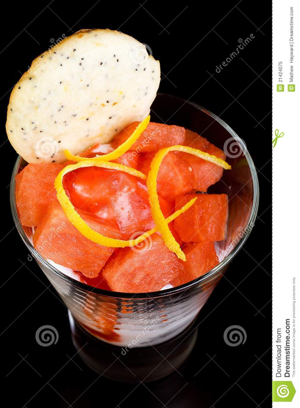 Fruit Cup For Dessert Royalty Free Stock Photo   Image  21424075
