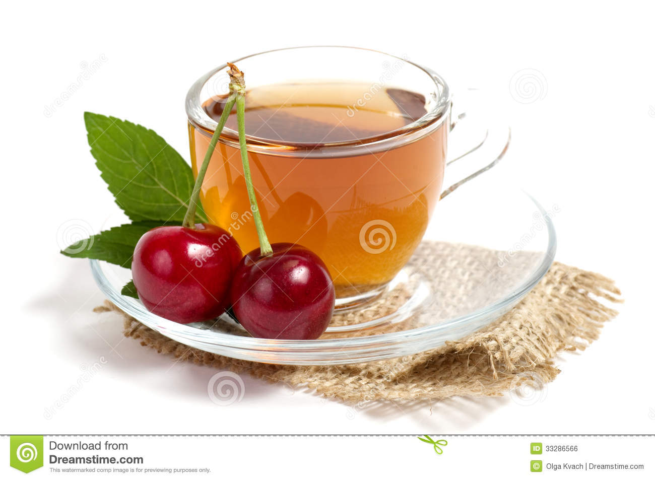 Fruit Tea In Cup Royalty Free Stock Image   Image  33286566