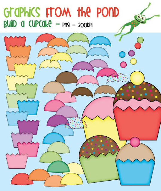 Graphics From The Pond  Calling All Clipart Addicts  Build A Cupcake