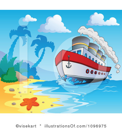 Pics Photos   Cartoon Cruise Ship Royalty Free Clip Art Image Axsoris