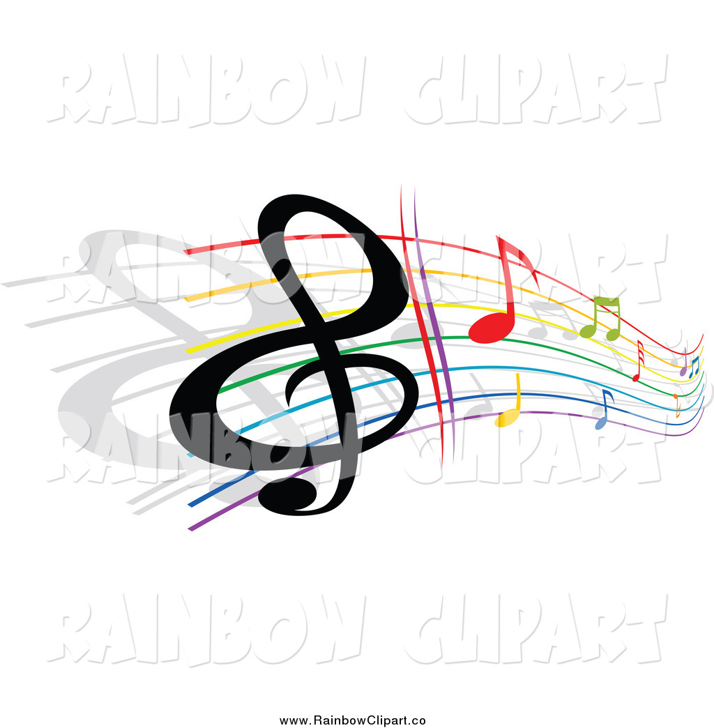 Rainbow Music Notes Clip Art Cool Colorful Music Notes ...