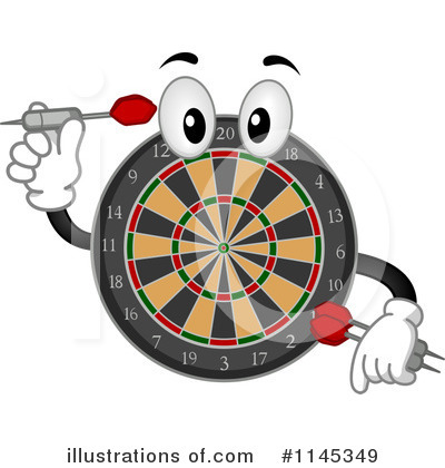Royalty Free  Rf  Dart Board Clipart Illustration By Bnp Design Studio