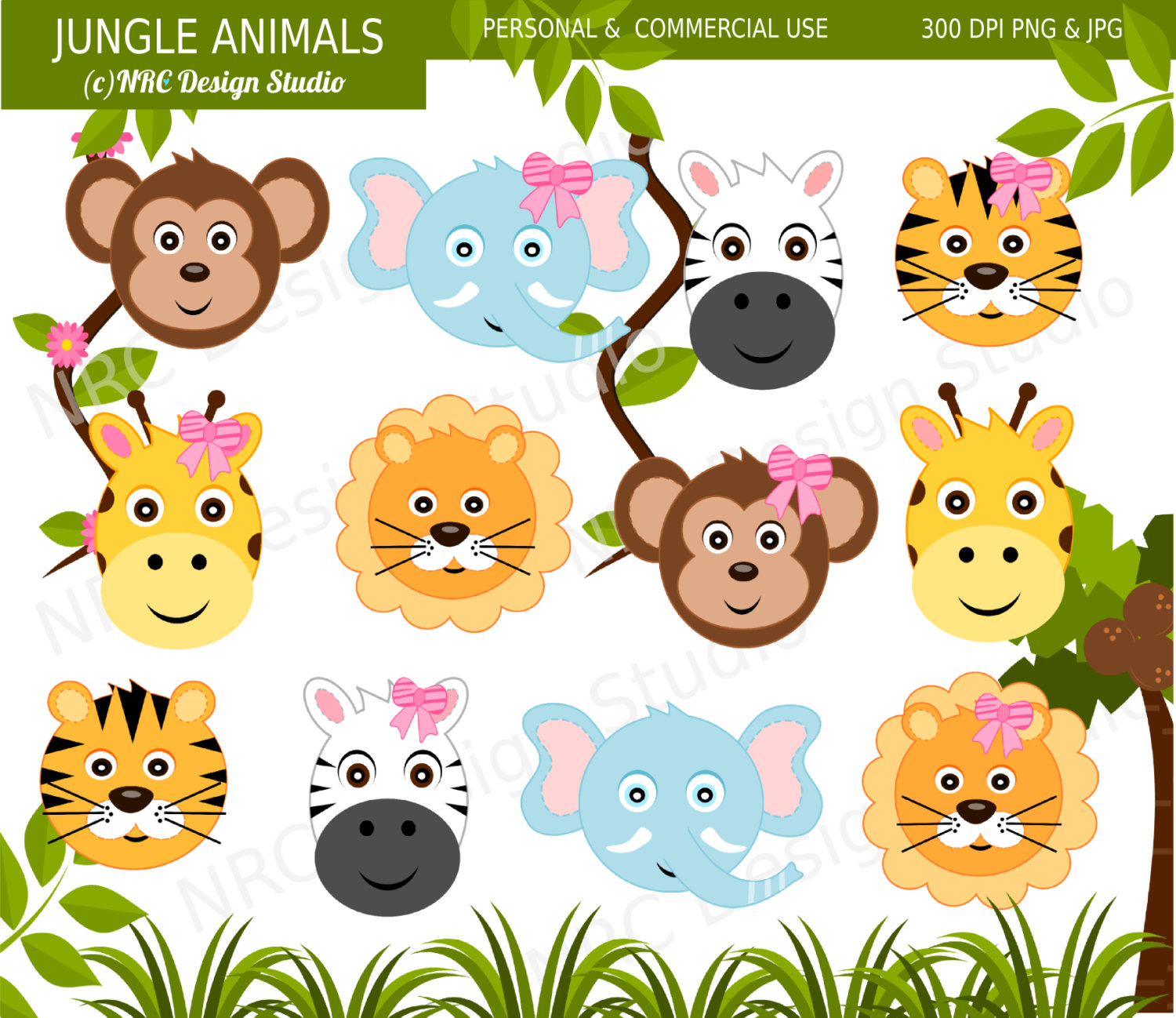 Jungle Animals Clipart - Clipart Kid