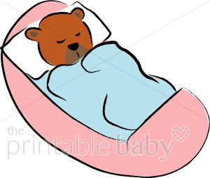Teddy Bear In Cradle Clipart   Teddy Bear Baby Clipart