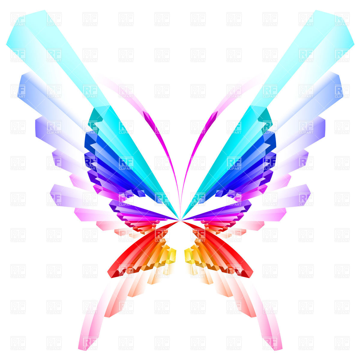 Abstract Colorful Butterfly 7581 Download Royalty Free Vector