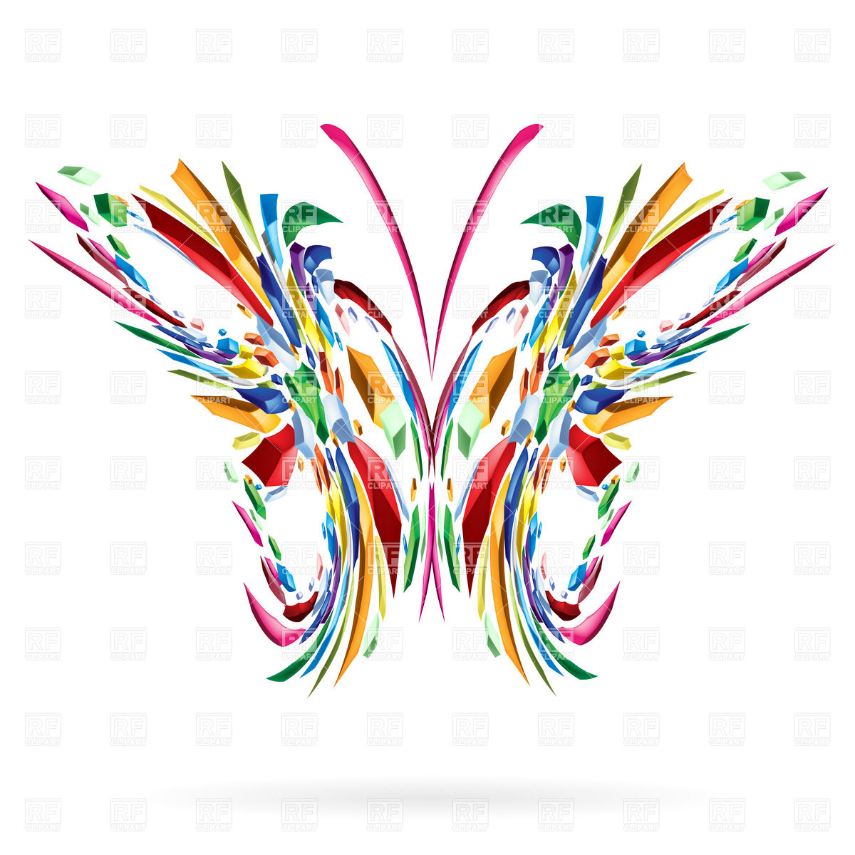 Abstract Ornate Butterfly Download Royalty Free Vector Clipart  Eps