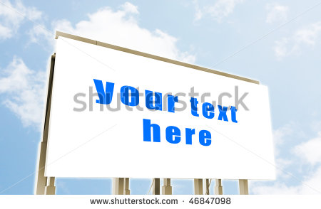 Billboard Advertising Space As A Clip Art Stock Photo 46847098