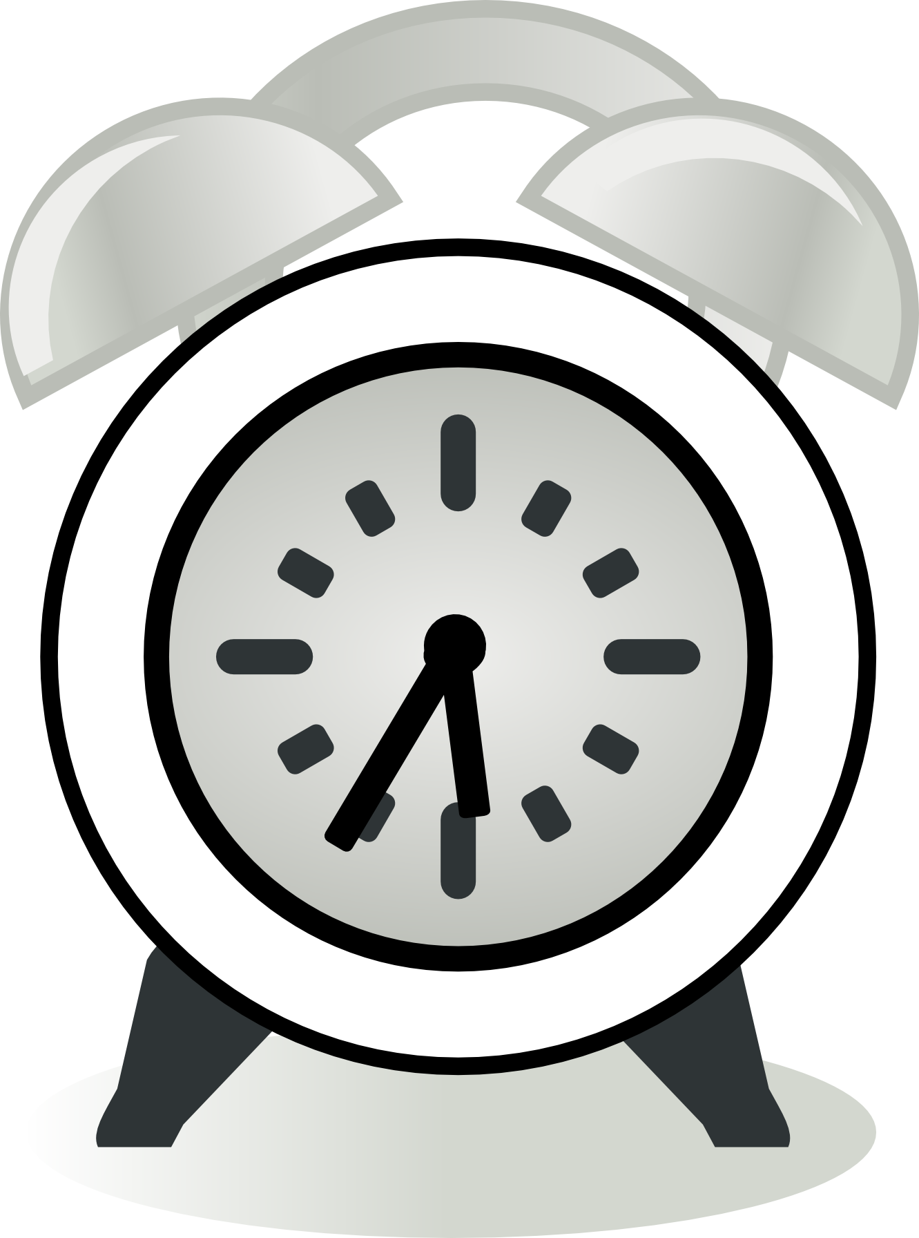 Black And White Clock Clipart
