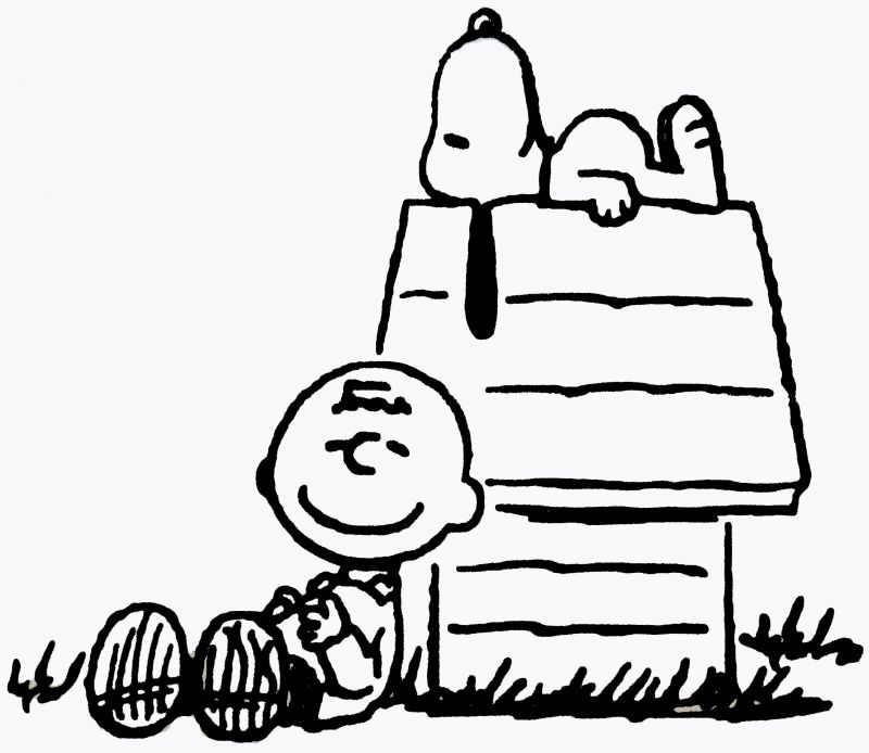 Charlie Brown And Snoopy Black And White 48470   Movdata