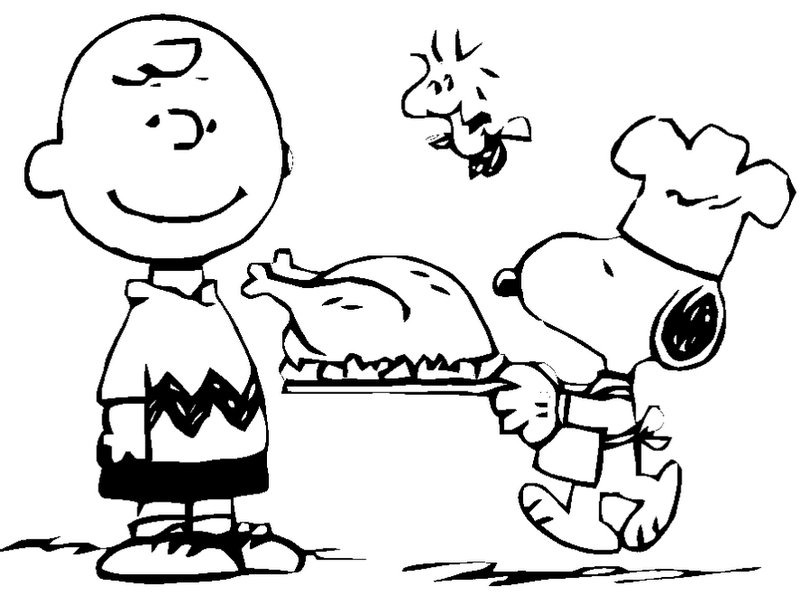 Charlie Brown And Snoopy Thanksgiving Coloring Page From Child